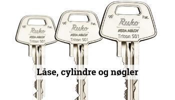Nøgler, cylinder, nøgle, lås, låse