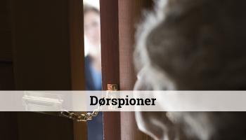 dørspion, sikkerhed, ældre dame